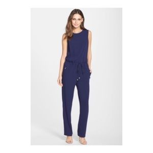 VINCE CAMUTO Drawstring Waist Crepe Jumpsuit 4 NWT